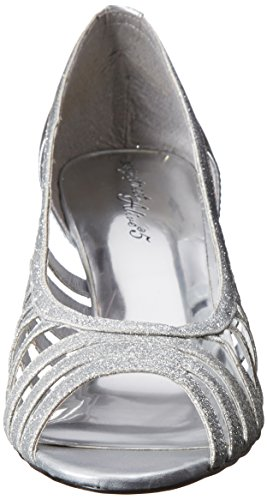 Easy Street Sparkle Large Synthétique Talons Silver Glitter