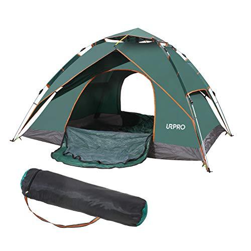 UrproTente familiale, 3–4 personne Tente de pop-up automatique coupe-vent, avec sac de transport,...
