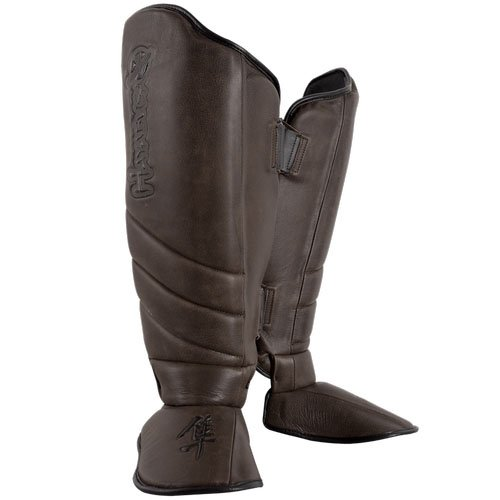 Hayabusa Kanpeki Elite 2.0 Striking Shin Guards, Small, Brown (Shin Hayabusa Guard)