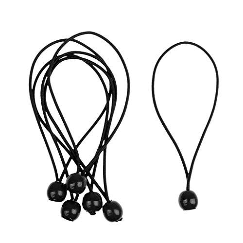 sharplace 6Stück/Set 15cm/15cm Ball Bungee Cord Elastic Zelt Tarp Befestigung, Sicherung Tie Down Gurt Mehrzweck-DIY Werkzeug -
