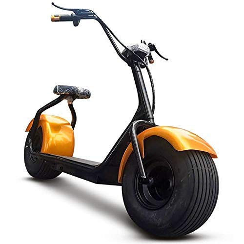 ATAA CARS Patinete eléctrico CityCoco Gold 60v - Amarillo - Scooter eléctrico de batería - Moto eléctrica Tipo choper Harley