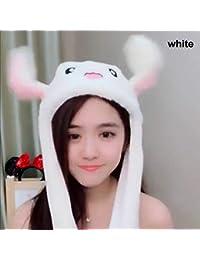 Abboard - Gorro de Invierno con Orejas de Conejo de Felpa para niños Blanco c8f99f3406e