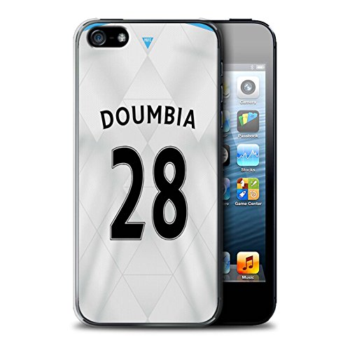 Offiziell Newcastle United FC Hülle / Case für Apple iPhone SE / Pack 29pcs Muster / NUFC Trikot Away 15/16 Kollektion Doumbia