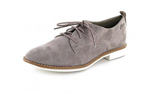 S Couro oliver 5 Schnürhalbschuh Da Casuais Dandy Femininos 23213 Senhoras Das Sapatos Estilo Moda 5 Pimenta 28 Calçados IdrnqRxwtI