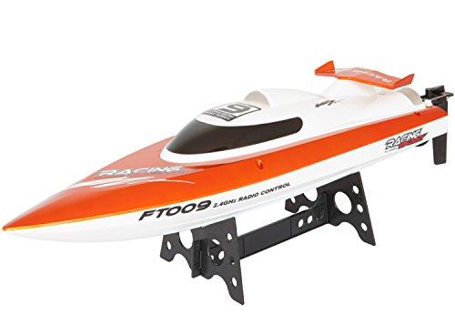 Rennboot HIGH SPEED, 46 cm, bis zu 30 km/h, mit Rollenfunktion, 4-Kanal, 2.4 GHz, LiPo-Akku 1500 mAh