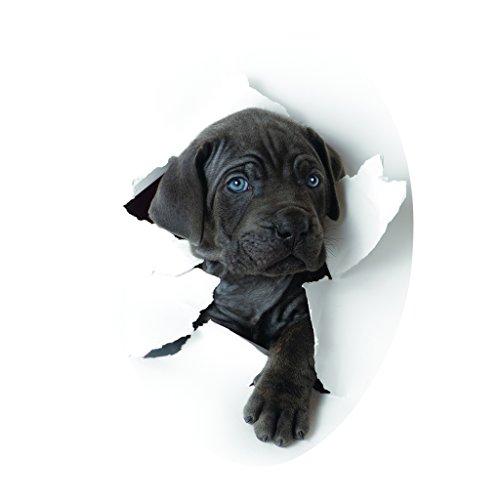 Homyl 3D Wasserdichter Toilettendeckel Toilettensitz Aufkleber, WC Sitz Tatoo Stickers Deko - Süßer Hund