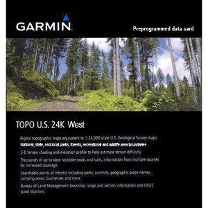 Garmin Topo USA 24K-West-Karten für GPS, geografische Abdeckung West-USA Garmin Us Topo Microsd