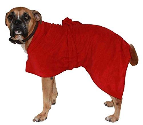 Toby and Alexander Saugfähige Hundelehre, leichte, schnell trocknende Roben sind Einfach zu benutzen, Bademantel. Geeignet für Welpen undHunde, große und kleineHandtücher. (XXL, Red)