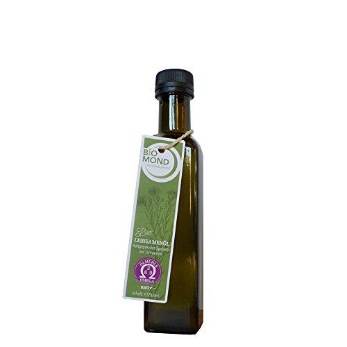 BIO Leinsamenöl Leinöl BIOMOND / 250 ml / AKTION 3 plus 2 / 2 Flaschen GRATIS / TESTSIEGER 2017