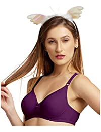410523c2ad09f DAISY DEE Light Wine Color Cotton Wirefree Regular Straps Seamless Full  Coverage Non Padded T-Shirt Bra for Women - SUPERSHAPER Simply…