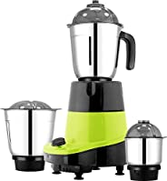 HOMETRONICS 550W JUICER MIXER GRINDER WITH 3 STAINLESS STEEL JAR (3 JAR)
