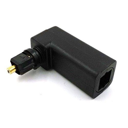 Optischer Kopf (maxhood rechts Winkel digitalen optischen (Toslink) Adapter, 360Grad drehbar Digital Optisches Audio Kabel Konverter Adapter)