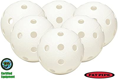 Tubo de grasa Floorball/unihockey Juego de 6 pelotas, color blanco