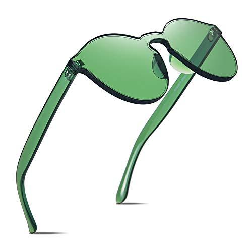 MMCP Bonbonfarben Sonnenbrillen, polarisierte Brillen Einteilige Sonnenbrille für Shopping Golf Fahren Reisen Unisex Frameless Sunglasses,3