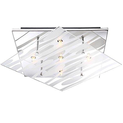 Design Decken Leuchte Glas Beleuchtung gestreifte Wohnraum Lampe Globo 48694-5 (Zebra-streifen-lampe)