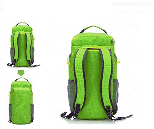 All'aperto borsetta Zaino Sacchetto del messaggero Cilindro Borsa da viaggio multifunzione arrampicata Movimento Zaino , pink Green