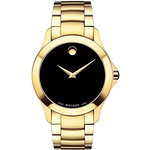 Movado Masino Reloj de Hombre Cuarzo 40mm Correa de Acero Chapado Oro 0607034