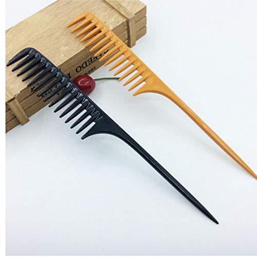 1 tragbare PC-Profi Kamm Tip Stielkamm für Salon Barber Abschnitt Haarbürste Friseur-Werkzeug DIY Haar Breite Zähne Combs -