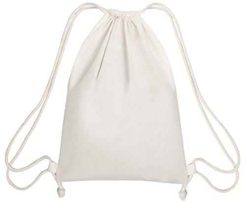 100 Prozent Baumwolle Beutel Mit Kordelzug, Stoffsack Mit Band Zum Zuziehen - Organisch Und Natürlich - (35x45, Weiss)