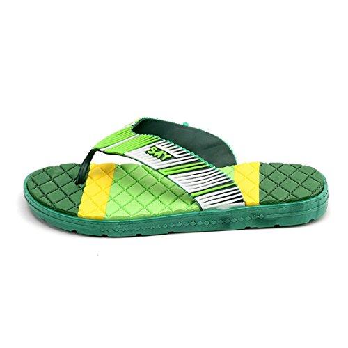 Men's Durable Breathable Outdoor Flip Flops Slippers Light Green