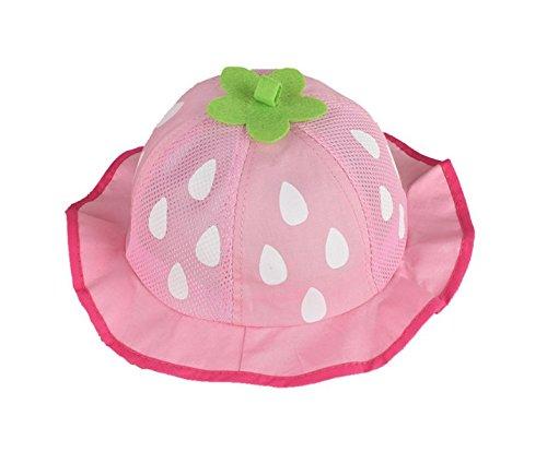 Milopon Baby Sonnenhut Mütze Sonnenmütze Sommer UV-Schutz Babymütze Hut Kinder Sonnenschutz Sommermütze - Mütze Rote Baby