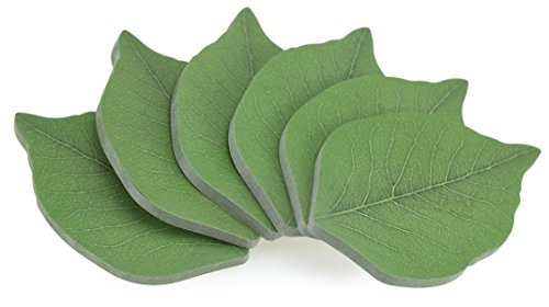 fiveseasonstuffr-6-pack-300-sheets-stationary-leaf-shape-edition-sticky-notes-adhesive-notes-coloure