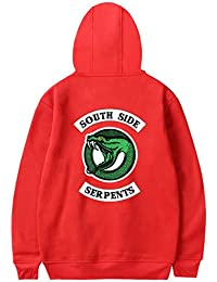 8caa47f3ebb8 EMILYLE Unisexe Sweat à Capuche Pull Riverdale Manches Longues South Side  Serpent Sweatshirt pour Homme Femme