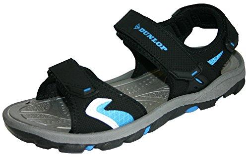 Dunlop , Sandales pour homme noir/bleu