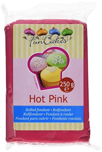 FunCakes Fondant, hot pink, 1er Pack (1 x 250 g)