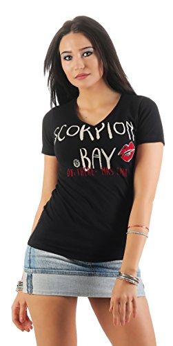Scorpion Bay Damen T-Shirt WTE3325 Schwarz