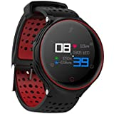 OPTA SB-052 O-RUNNER WATCH | HD Color Display Bluetooth Fitness Smartwatch | Multi-Sport Mode & All-in-One Activity Tracker | Blood Pressure| Heart Rate | Sleep Monitor | smart band compatible with Android / IOS Smart phones for Men Women Teens (Black/ Red)