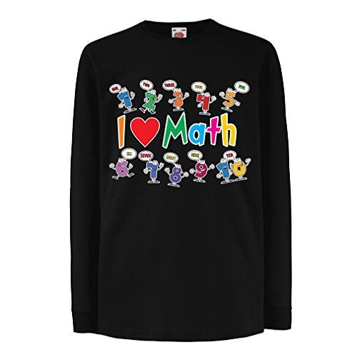 lepni.me Niños/Niñas Camiseta Amo Las matemáticas - Regalo Educativo - Regreso a la Escuela o día de graduación Ropa (9-11 Years Negro