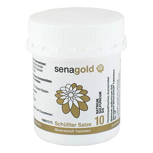 Schüßler Salz Nr.10 - Natrium sulfuricum D6-400 Tabletten, glutenfrei