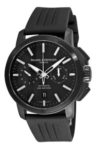 baume-mercier-8853-reloj-de-pulsera-hombre-caucho-color-negro
