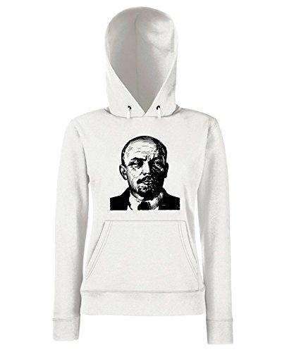 T-Shirtshock - Sweats a capuche Femme TCO0091 Lenin Blanc