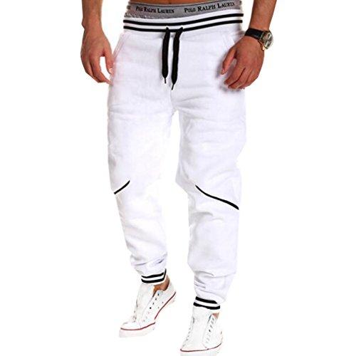 WTUS Rival Cotton Jogger, Cuciture per il tempo libero Pantaloni Uomo Bianco