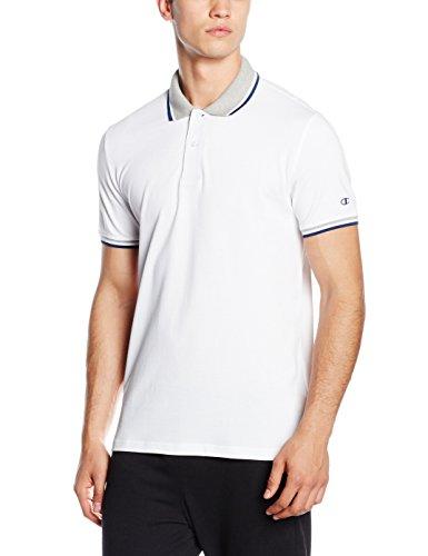 Champion Herren Polo, Dark Forest Green, XL, 209599_S16 White/Oxford Grey/Deep Blue/White
