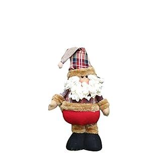 Telescópica Santa Claus Adornos de Navidad Escena Puntales muñecas de regalo Accesorios-Santa Claus
