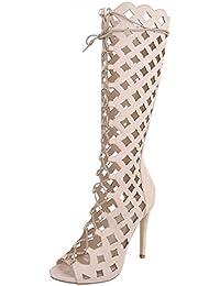7be1245ebf4e Ital-Design High Heel Sandaletten Damenschuhe High Heel Sandaletten  Pfennig- Stilettoabsatz High Heels