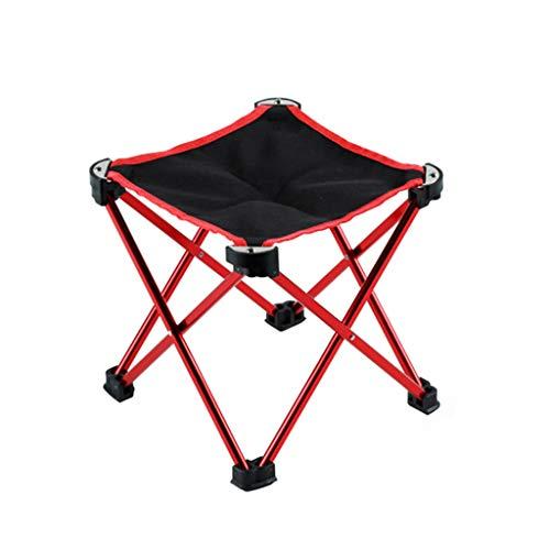 Tabouret - Chaise Pliante, Chaise de pêche extérieure en métal, Chaise Moderne Minimaliste/Chaise de Croquis Portable (Couleur : Red, Taille : 22 * 22 * 22cm)