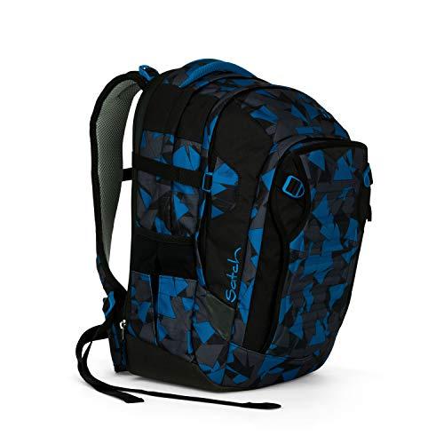Satch Match, Blue Triangle ergonomischer Schulrucksack, erweiterbar auf 35 Liter, extra Fronttasche - Erweiterbar Aufrecht Tasche
