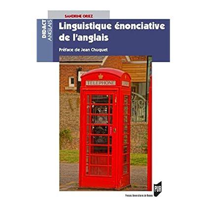 Linguistique énonciative de l'anglais