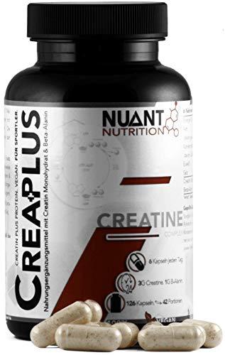 NUANT® - CREA PLUS | Ultra Kreatin Komplex mit Beta-Alanin (1 x 126 Kapseln)