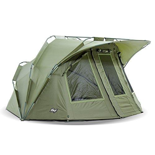 Lucx® Angelzelt - Bivvy Lion, 1-2 Mann Karpfenzelt / Carp Dome / Zelt / 10.000mm Wassersäule - Campingzelt