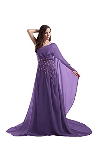 Bridal_Mall - Robe - Trapèze - Sans Manche - Femme - violet - 46