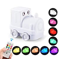 Night Light for Kids, THX LED Cute Silicone Night Light Bedside Lamp 9 Colors Changing USB Rechargeable Remote Control Dimmable Children Night Light for Baby Bedroom Nursery Girls Birthday Gift