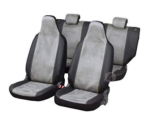 Maßgefertigte Sitzbezüge Talent ideal angepasst Komplettes - Set - Stoff mit Kunstleder Grau und Schwarz | Z4L-TA-0F3X11 -