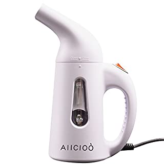 Garment Steamer, Aiicioo Portable Handheld Fabric Steamer with Stainless Ultra-fast Aluminum Heating Element 140ML For Home & Travel 220-240 Volt