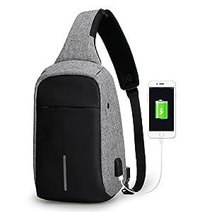 Mark Ryden Anti-Diebstahl-Sling-Schulter-Umhängetasche Rucksack Casual Day Pack Mit USB-Ladegerät Für Männer Frauen