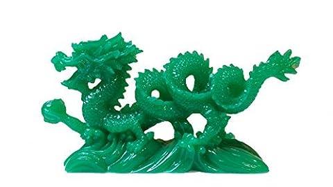 Statue de dragon chinois Feng Shui Résine Rouge et figurines et sculptures et objets de collection